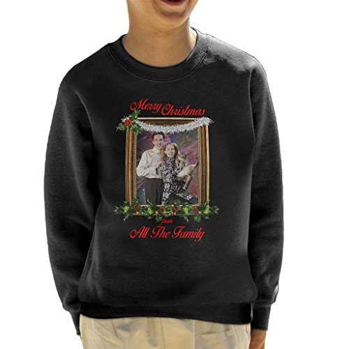Non Gender Cat Siblings Merry Christmas From All The Family Kid's Sweatshirt