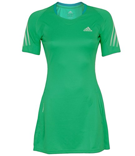 adidas Damen MiTTennium Dress Climalite Tischtennis (hypergreen - sharpblue, 34)