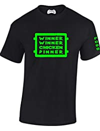 Taurus New Adults Childs 'Winner Winner Chicken Dinner' pubg Gamers T Shirt PS4 Xbox