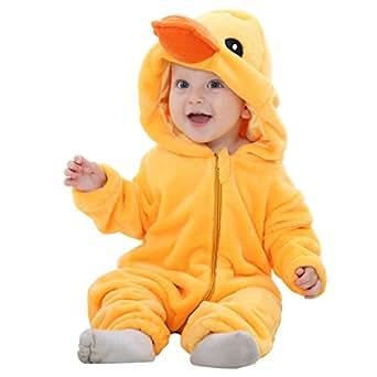 MICHLEY Bambino Pagliaccetto Animale Autunno inverno vestiti infantile Flanella Ragazze Costume yazi-70cm