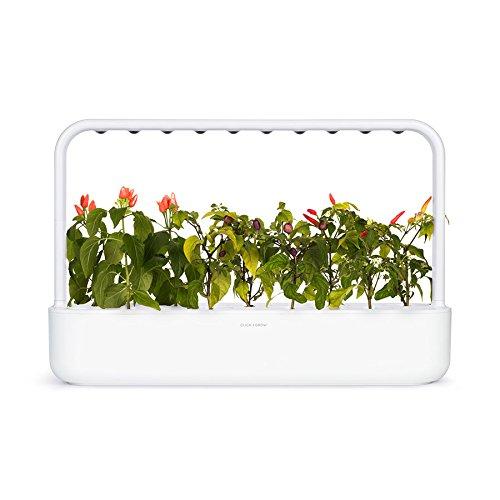 Click & Grow 9Smart Garden 9Fioriera di interno, Bianco, 60.5x 18.5x 40cm