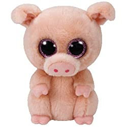 TY - Beanie Boos Piggley, peluche cerdito, 15 cm (United Labels Ibérica 37200TY)