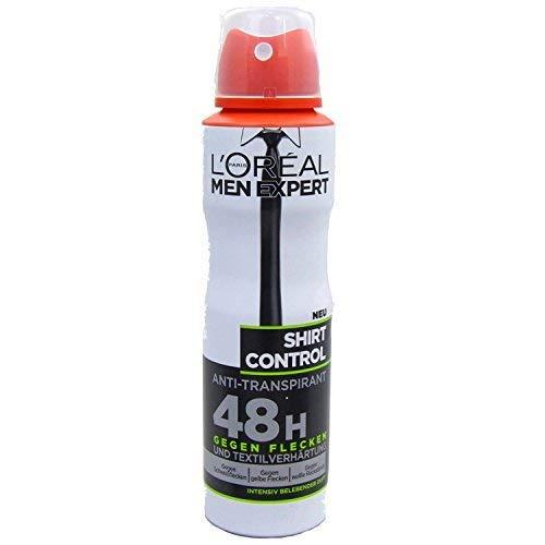 L'Oreal Men Expert Shirt Control Deo Spray, 24H Schutz für Hemden vor gelben Flecken, 150 ml -