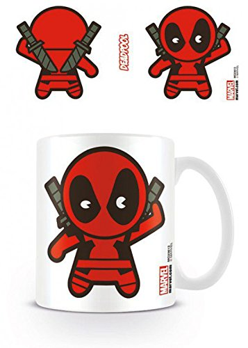 Set: Deadpool, Kawaii Marvel Tazza Da Caffè Mug (9x8 cm) E 1 Sticker Sorpresa 1art1®