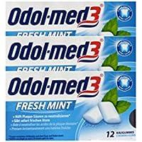 3x ODOL MED 3 Fresh Mint Kaugummi 12St Kaugummi PZN 34157