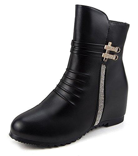 Compensées Femme Bottines Chaussures Aisun Low Confortable Boots RaxwUqtpzn