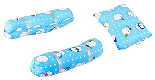 Baybee Baby Pillow and Bolster Set (Pink) (Blue)