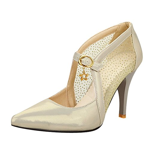 Mee Shoes Damen high heels Schnalle Mesh Pumps
