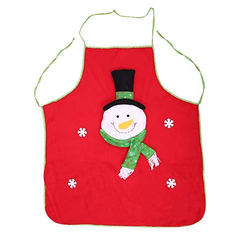 Ideen Kostüm Masquerade - Xiton Rote Weihnachts-Schürze Snowman Stil Küchen Schürze mit Tasche Ideen für Spaß Fancy Masquerade Kostüm