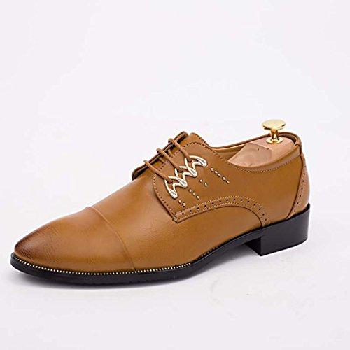 ZXCV Scarpe all'aperto Uomo Casual Merletti in su Oxford Shoes Giallo