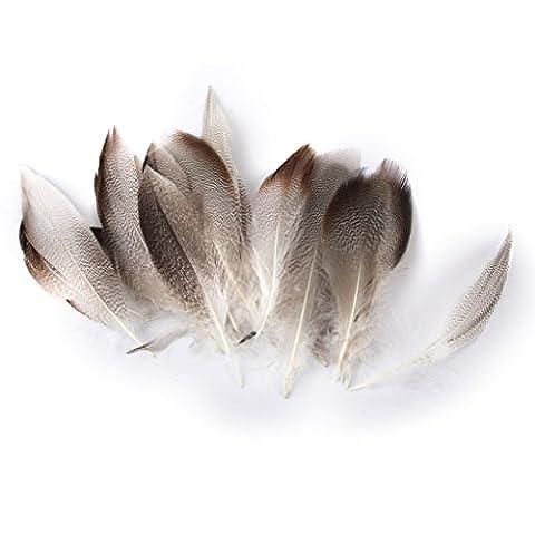 Lot de 20pcs 9-13cm Plumes de Canard pour Artisanat Fabrication de Masque Chapeau