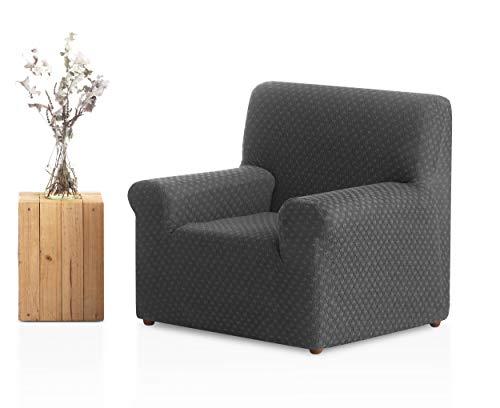 Bartali Sesselbezug Olivia, 50% Polyester, 45% Baumwolle, 5% Elastomer, Grau, 1 Quadratisch