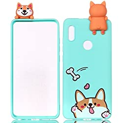 HopMore Funda Huawei P20 lite Silicona Motivo 3D Divertidas TPU Gel One Piece Kawaii Original Ultrafina Slim Case Antigolpes Caso Protección Flexible Cover Design Gracioso para Huawei P20 lite - Perro Koki
