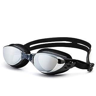 Sport Brille Männer Damen Herren Erwachsene Galvanik Schwimmbrillen Anti Uv Anti Fog Sichtfeld Mit Großem Sichtfeld Für Schutz Vor Tauben Schwarz