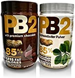 PB2 Powdered Peanut Butter and CPB2 with Premium Chocolate. 16 oz (Pack of 2) ...