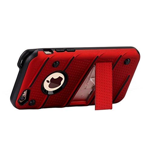 Phone case & Hülle Für iPhone 6 / 6s, Charm Knight Abnehmbare PC + TPU Kombination Schutzhülle mit Halter ( Color : Silver ) Red