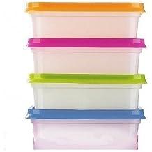 Lakeland - 10 Boîtes Alimentaires Empilable En Plastique & Couvercles (400ml)