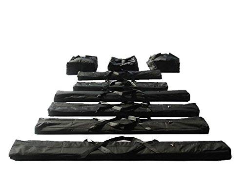 TOOLPORT Taschenset -Taschen Zelt- Gestängetaschen 6 m für Premium Zelte für Pavillon Partyzelt - 9 Stück Tragetaschen Transporttaschen