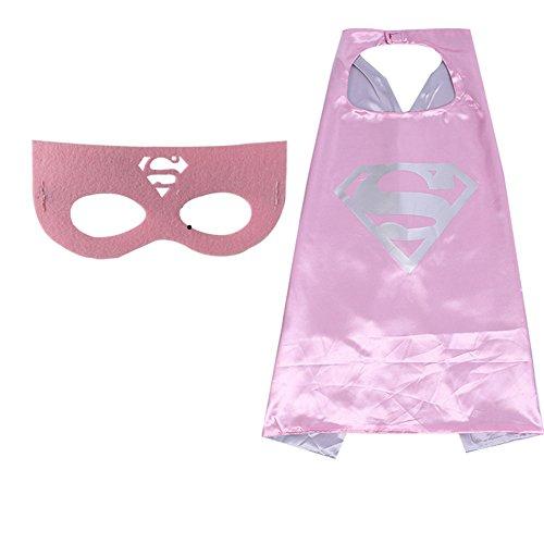 -Poncho, Masken, Satin (Beste Superhelden Halloween Kostüme)