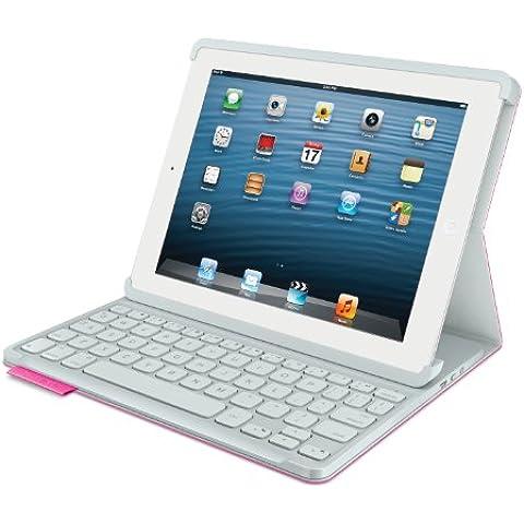 Logitech Keyboard Folio - Fundas para tablet (198 mm, 25 mm, 248 mm, USB) , color: Pink (Importado de Francia)