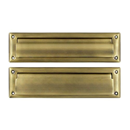 Deltana MS212U5 13 1/8-Inch Mail Slot with Solid Brass Interior Flap by Deltana
