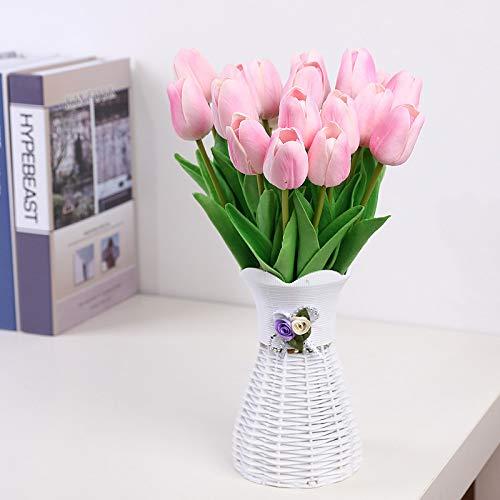 Jun7L Künstliche Blumen Gefälschte Blume Tulpe Latex Material Real Touch für Hochzeitszimmer Home Hotel Party Dekoration und DIY Decor 10 Stück 32X2.7CM