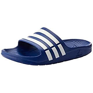 adidas Unisex Adult Duramo Slide Open Toe Sandals, Blue (True Blue/White/True Blue), 9 UK