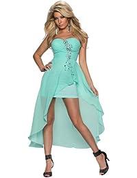 Kleid vorne kurz hinten lang mit schleppe