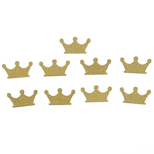 (ULTNICE Krone Konfetti Glitter Papier Konfetti für Geburtstag Hochzeit Party Cupcake Topper Pack von 100)