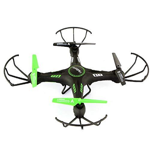 ILYO Drohnen Mit Einer Kamera-Luft-Drohne Vier-Achsen-Flugzeug HD-Luftfotografie Echtzeit-Bild-Übertragungswiderstand Drohne Kopflosen Modus One-Button Rise Anti-Card-Todes Schutz,Green