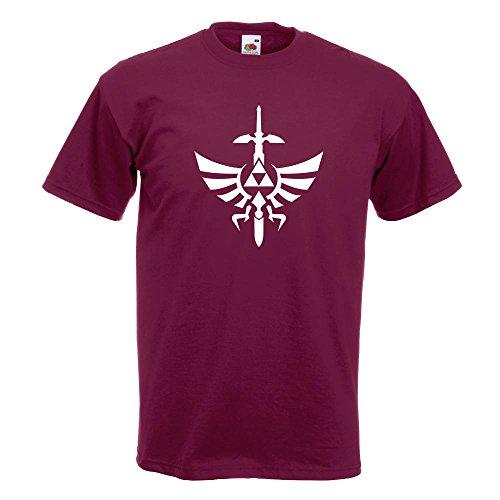 KIWISTAR - Triforce - The Legend of T-Shirt in 15 verschiedenen Farben - Herren Funshirt bedruckt Design Sprüche Spruch Motive Oberteil Baumwolle Print Größe S M L XL XXL Burgund