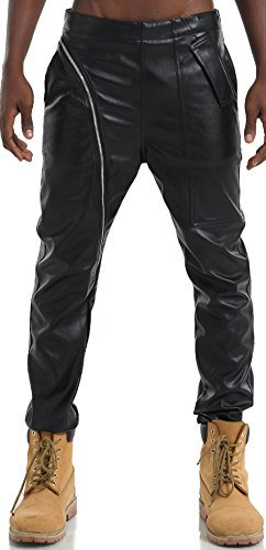 pizoff-men-hip-hop-leatherette-pu-asymmetisch-cut-black-pants-with-zipper-y1714-34