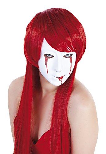 etrifft–S3160–Zubehör für Kostüm–Maske–Weiß Damen mit Tränen Blut ()