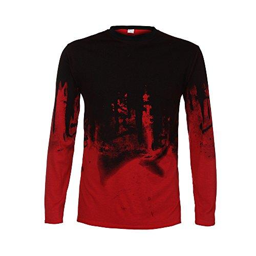 Herren Oberteile,TWBB Gradient Farbe Shirt Männer Tops O-Ausschnitt Lange Ärmel Schlank Hemd Persönlichkeit Sweatshirts