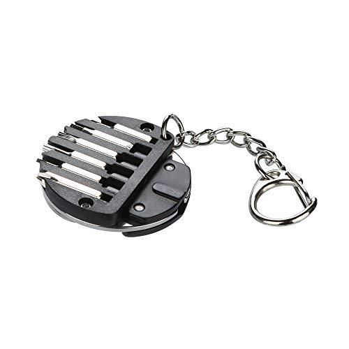 Igemy Faltschrauber EDC Multifunktions Gadget Uhr Brillengestell Wartung (Schwarz)