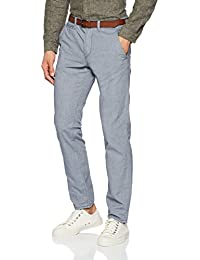 Tom Tailor Denim Basic Chino Yd with Belt, Pantalon Homme