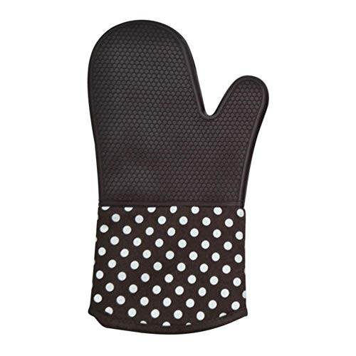 asiproper Waterproof Anti Slip Thick Heat Resistant Silicone Glove BBQ Grill Gloves Kitchen Barbecue Microwave Oven Cooking Grill Baking Gloves