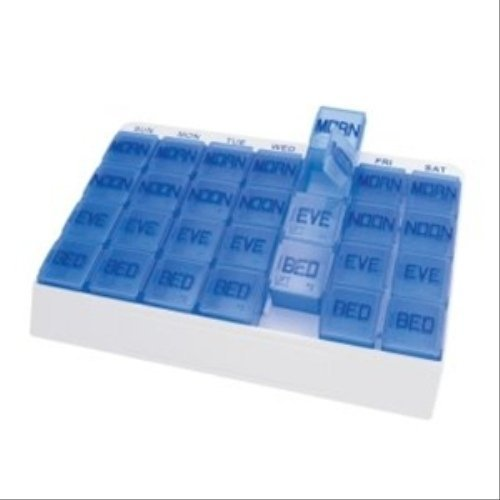 Lupe Aids groß 7Day Weekly Pille Veranstalter (48) (Monatliche Pille Veranstalter)