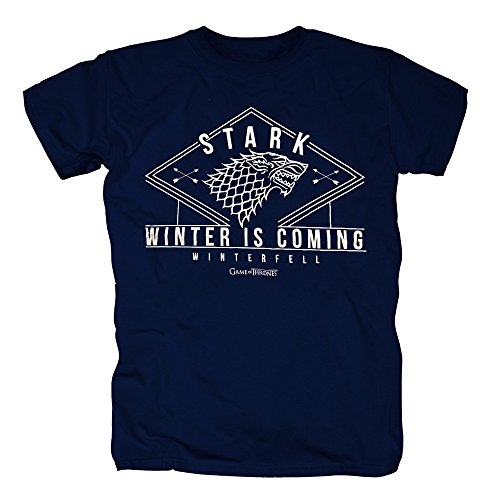 TSP Game of Thrones - Stark Winter T-Shirt Herren S (Game Billig Of Thrones Kostüme)