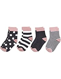 FOOTPRINTS Organic cotton Baby Socks- 12-30 Months - Pack of 4 Pairs