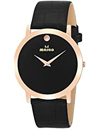 Marco Black Dial Black Strap Men's Analog Watch