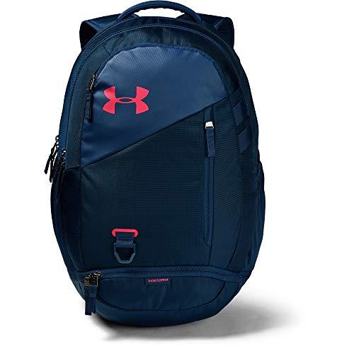 Under Armour Unisex-Erwachsene Hustle 4.0 Backpack Rucksack, Academy (410)/Watermelon, One Size Fits All - Erwachsenen Hoodie Pullover