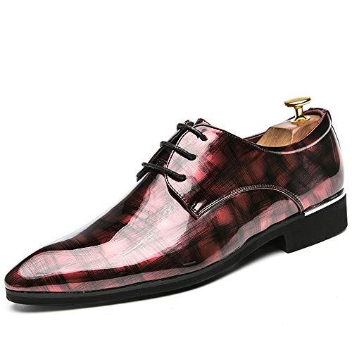 Formal Flat Breathable Oxford Casual Personnalité Mode Rétro Brosse Couleur Confortable Respirant PU Cuir Formelle Chaussures d'affaires Oxford Shoes