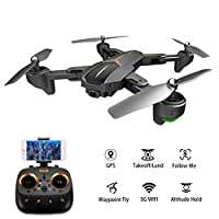 Ocamo VISUO XS812 GPS RC Drone with 2MP/5MP HD Camera 5G WIFI FPV Altitude Hold One Key Return Quadcopter RC Helicopter for Kids and Adults Gifts