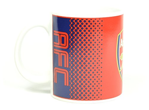 Arsenal FC rouge bleu fondu de football cadeau fan tasse officielle en boîte