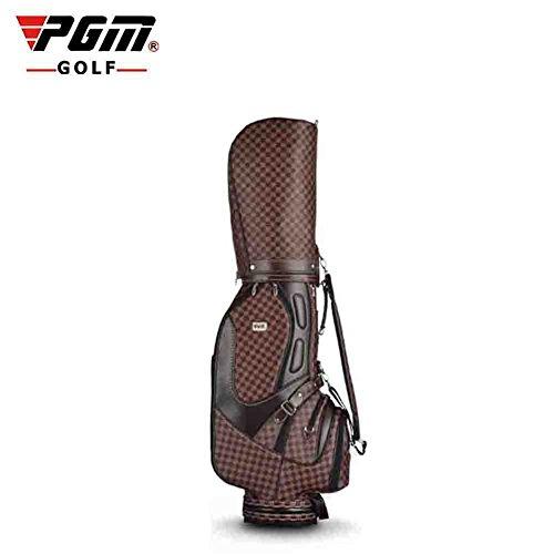 Pgm golf standard borsa per mazze da golf carry bags ---- qualità pu superficie, ombrello fisso, può contenere completo set di mazze da golf # qb002, uomo donna, brown