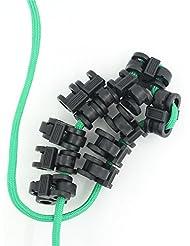 humefor 10pcs plástico 4mm de diámetro agujero cordones de bloqueo para deportes y actividades al aire libre