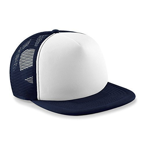 Kids Vintage Snap Back Trucker Cap Navy/White (Nylon White Vintage)