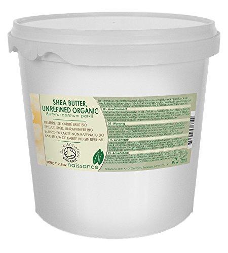 Bio Sheabutter, unraffiniert - 100% rein - Organisch zertifiziert - 500g