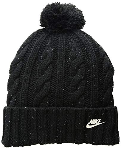 Nike Damen Beanie Mütze, Black/Cool Grey/Metallic Silver, One Size -